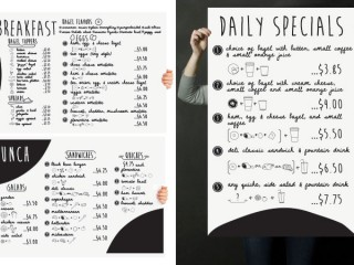 Bagel and Menu Board